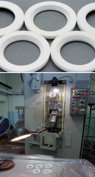 типоразмеры сёдел для шаровых кранов (трубопроводной арматуры) из фторопласта Ф4А (гранулированный фторопласт4)